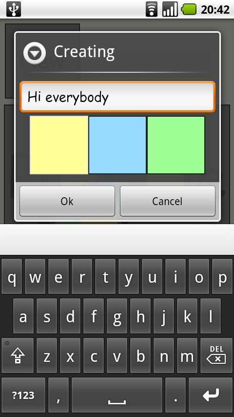 Post me Notes - screenshot