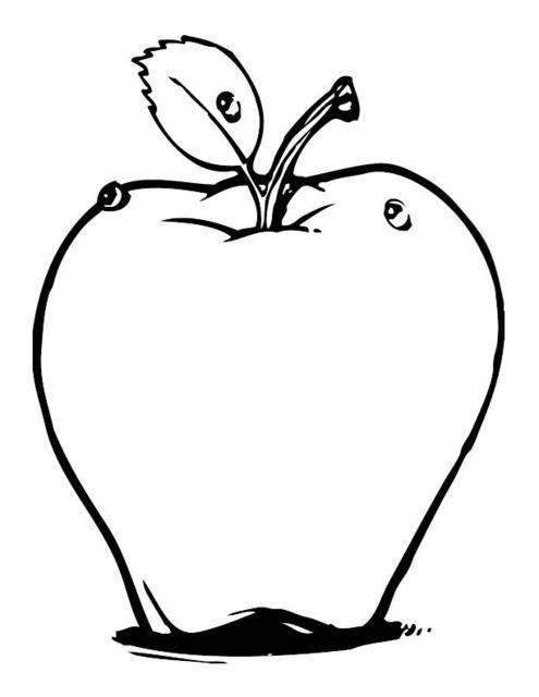 Manzanas Dibujos Para Colorear