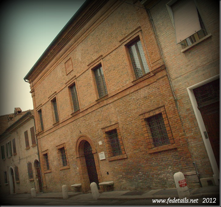 Casa di Ludovico Ariosto ( facciata ), Ferrara, Emilia Romagna, Italia - The house of Ludovico Ariosto ( overview ),Ferrara, Emilia Romagna, Italy - Property and Copyrights of www.fedetails.net