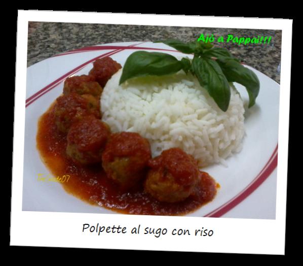 Immagine del piatto polpette al sugo con riso