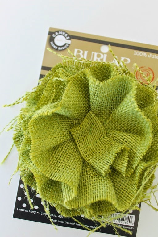 burlap flower #canvascorp