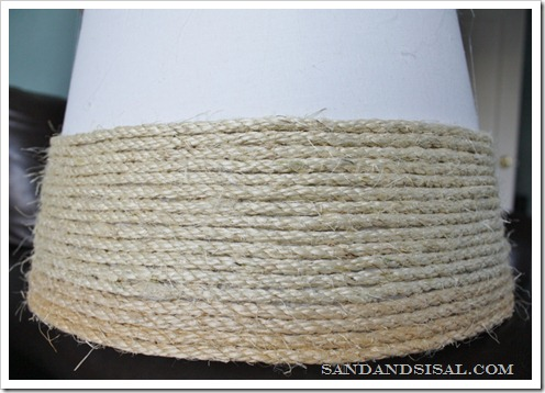 making a sisal shade