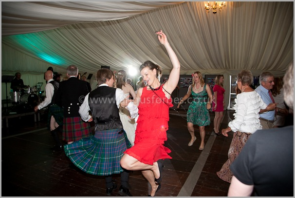 traditional scottish ceilidh at a scottish wedding