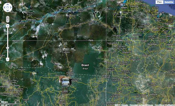 Colider au nord du Mato Grosso, au sud-est d'Alta Fioresta