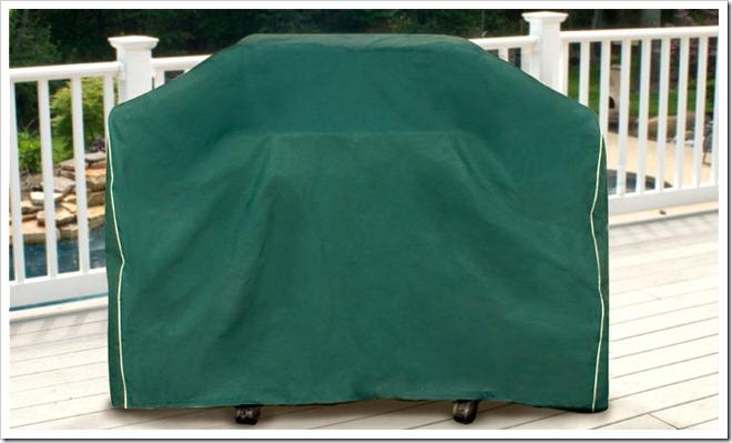 Hunter Green Medium Cart Style BBQ Grill Cover
