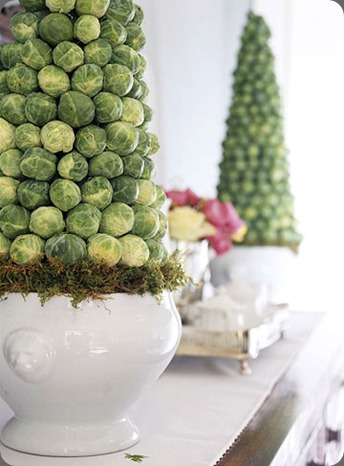 Brussel Sprout Topiary Detail (bhg) the party dress.net