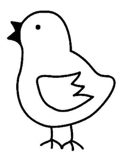 Pollo Para Pintar Para Niños Imagui