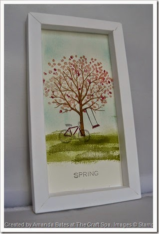 Shadow Box Frame, Sheltering Trees for All Seasons SPRING by Amanda Bates at The Craft Spa   (1)
