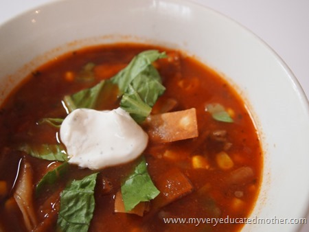 @mvemother #easyrecipe #tortilla soup