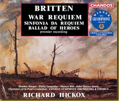 Britten War Requiem Hickox