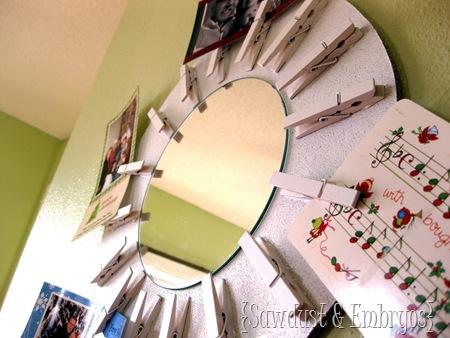 DIY Christmas Card Wreath (Starburst Mirror!)