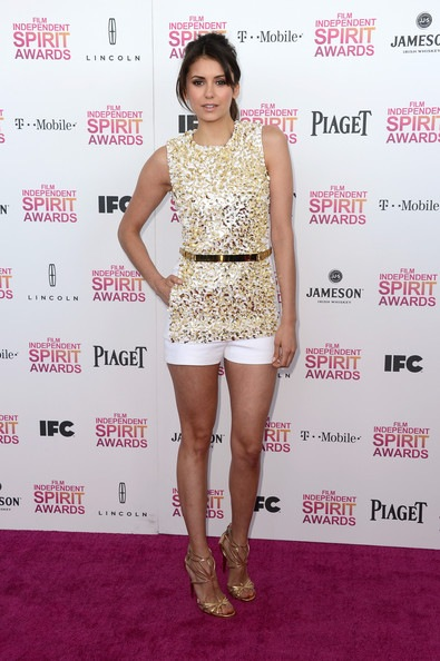 Nina Dobrev attends the 2013 Film Independent Spirit Awards