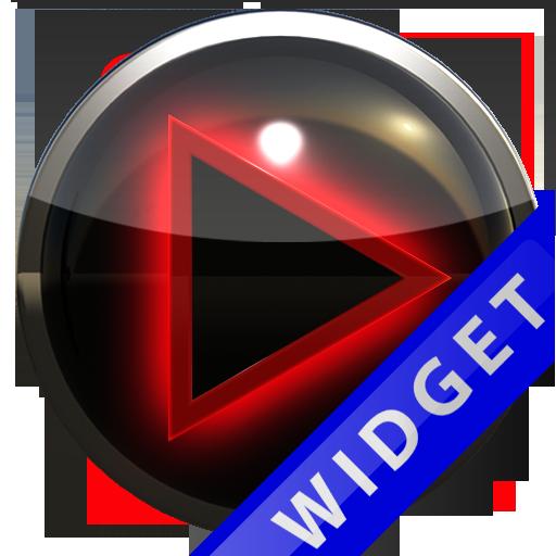 Poweramp Widget Red Glow