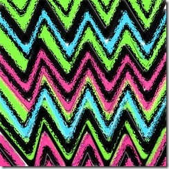 Chevron pink green and blue