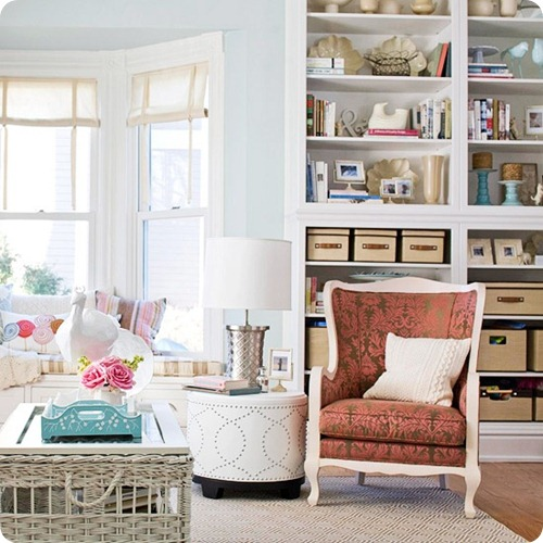 using color in a neutral room