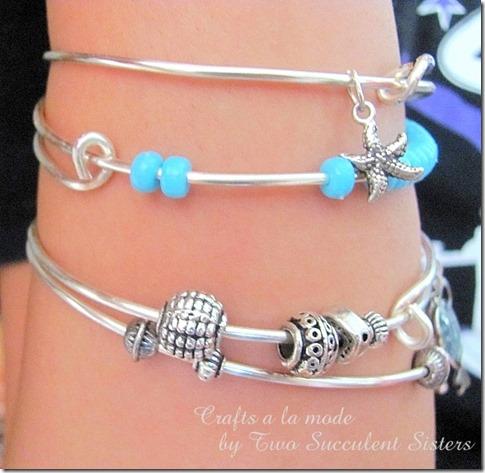 Arm with bracelets