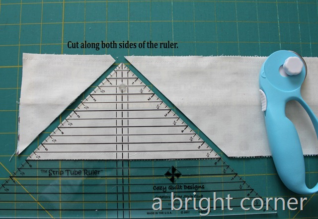 How to make a strip tube quilt - a jelly roll quilt tutorial by Andy of A Bright Corner