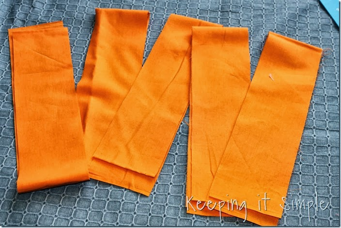 Halloween rag table runner (2)