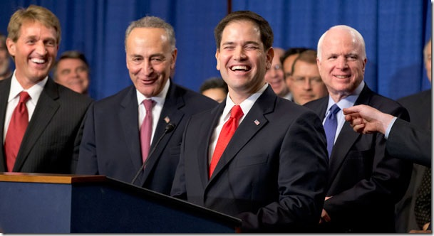 Gang of Eight laughs while America suffers