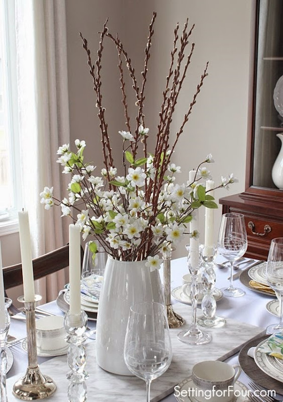 Spring Table Decor Ideas Setting For Four