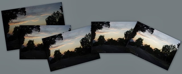 collage of the bracketted exposure as unaltered jpeg