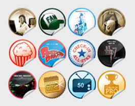 Stickers on GetGlue