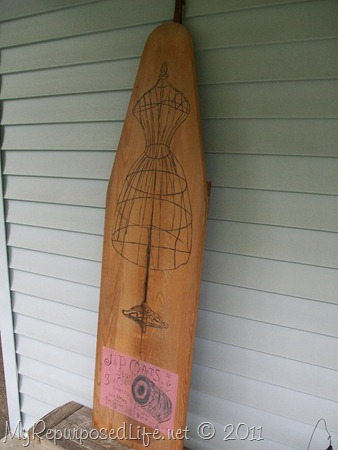 stenciled/painted ironing board