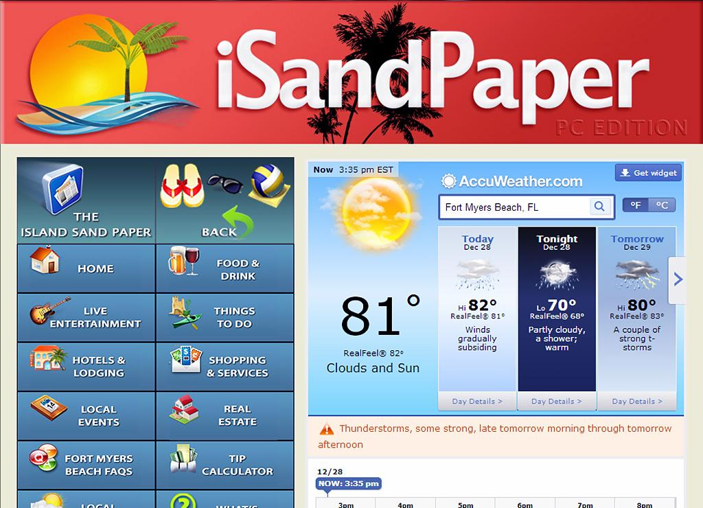 iSandPaper Fort Myers Beach - screenshot