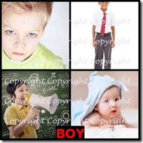 BOY- 4 Pics 1 Word Answers 3 Letters