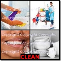 CLEAN- 4 Pics 1 Word Answers 3 Letters