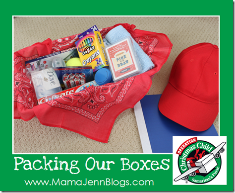 Operation Christmas Child: Packing Our Boxes