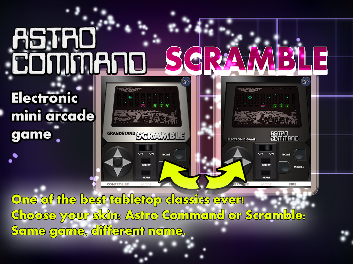 Scramble Astro Command 1980s Retro Game- screenshot