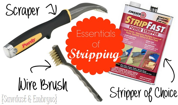 Essentials of STRIPPING! {Sawdust and Embryos}