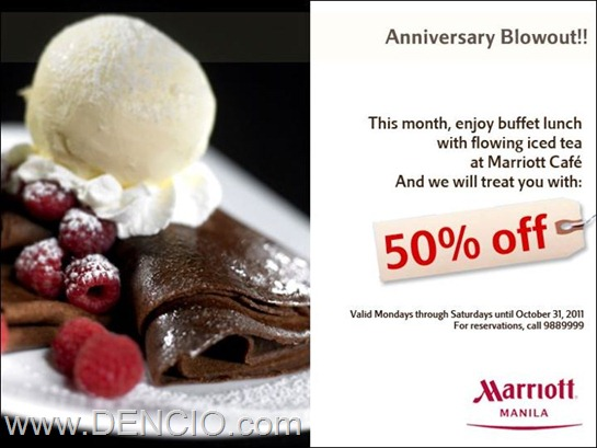 marriott cafe buffet sale 2011