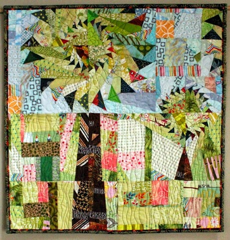 Curvy Geese Trees Quilt