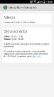 Screenshot of Jídelníček ZČU
