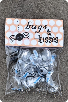 photograph relating to Bugs and Kisses Free Printable identified as Insects Kisses Halloween Take care of No cost Printable Dixie Delights