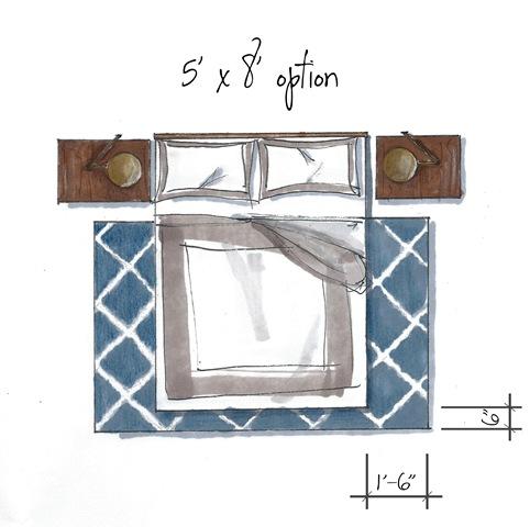 5 X 8 Rug Under Queen Bed Rugs Ideas
