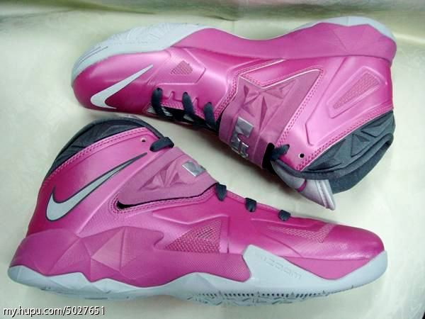 hot sale online e76b1 87638 LeBron8217s Nike Zoom Soldier VII 8220Think Pink8221 599264600 ...