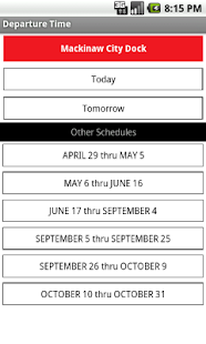Star Line 2011 Ferry Schedule- screenshot thumbnail