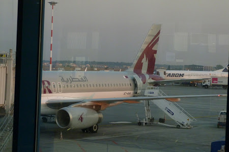 Aeronava Qatar Airways la Otopeni