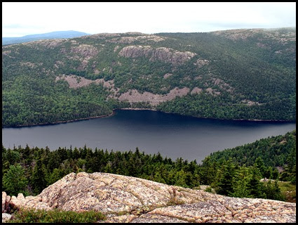 02p3 - Pemetic Mtn Hike - View from Summit - Penobscot Mtn, Jordan Cliffs, Carriage Road