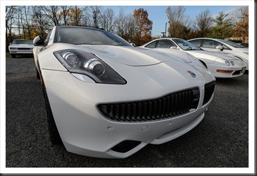Katie's Cars and Coffee - Fisker Karma