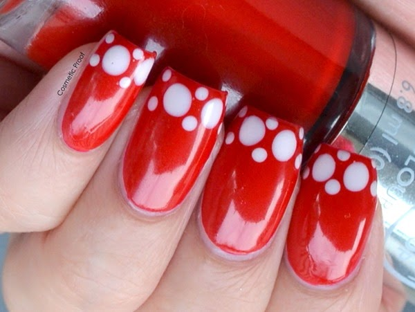 Polka Dot French Manicure Nail Art