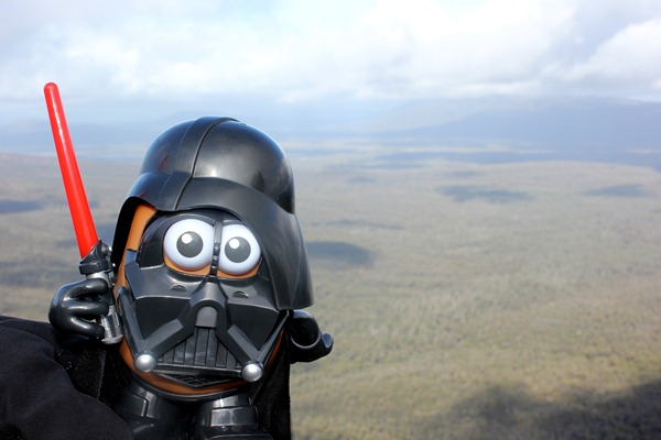 Darth Tater at the  Grampians