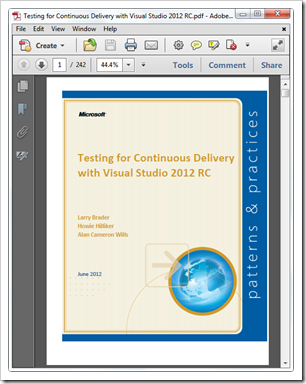 Testing for Continuous Delivery with Visual Studio 2012 RC