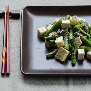 Sesame-Miso Asparagus & Tofu