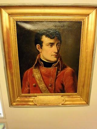 Portrait de Napoléon au Musée au Col du Grand-St-Bernard
