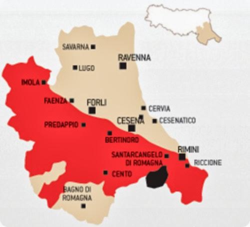 sangiovese romagna map