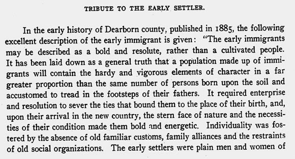 Dearborn County, Indiana, Early Immigrants